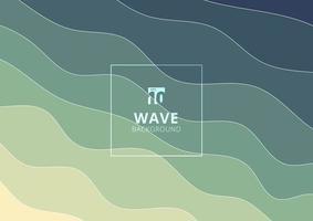 il modello astratto dell'acqua dell'onda allinea il fondo e la struttura. vettore