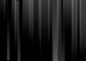 verticale geometrica nera astratta con il fondo e la struttura del modello di punti. vettore