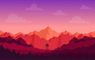 Vector Colorful Landscape Illustration
