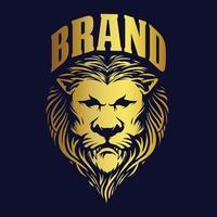 design del re leone d'oro per il business del marchio vettore