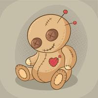Vettore marrone bambola voodoo