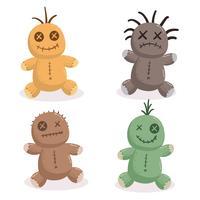 Vettore della raccolta della bambola di voodoo