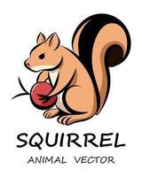 vettore di simpatico scoiattolo eps 10.