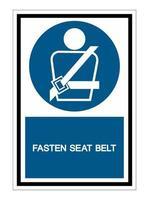 Icona ppe. indossare un simbolo della cintura di sicurezza isolato su sfondo bianco, illustrazione eps.10 vettore