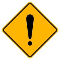 segno di simbolo di avvertimento di pericolo su priorità bassa bianca vettore