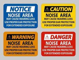 l'area del rumore può causare la perdita dell'udito, utilizzare una protezione per l'udito adeguata per un'esposizione prolungata vettore