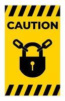 icona ppe. mantenere bloccato il segno simbolo isolato su sfondo bianco vettore