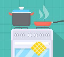 Stufa da cucina vettore