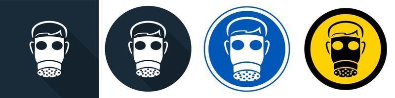 simbolo indossare il viso pieno su sfondo nero vettore