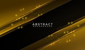 oro geometrico astratto moderno e sfondo di colore nero. movimento, sport, linee. poster, sfondo, pagina di destinazione. illustrazione vettoriale
