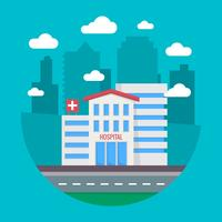 Ospedale della città vettore