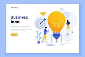modello di pagina di destinazione dell'idea imprenditoriale vettore