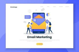 modello di landing page dell'email marketing vettore