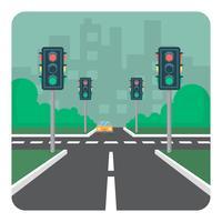 Intersezione stradale vettore