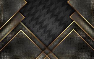 sfondo oro di lusso con decorazione leggera vettoriale