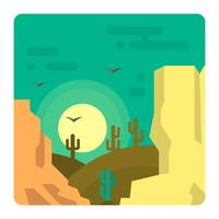 Paesaggio del deserto occidentale