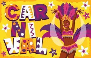 poster di carnevale festival di rio vettore