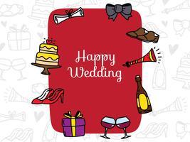 Partecipazione di nozze con oggetto Doodle