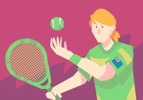Giocatore di tennis australiano vettore