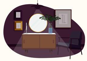 Illustrazione astratta della stanza di vettore