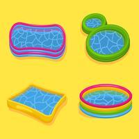 Raccolta di vettore gonfiabile della piscina