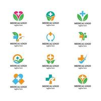 icon pack logo medico sanitario vettore