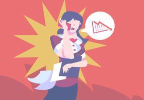 Shock di donna d'affari vettore