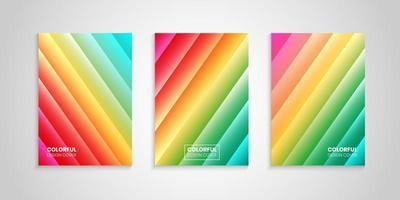 collezione di copertine colorate luminose astratte vettore