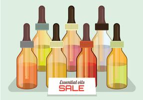 Vettore di vendita di oli essenziali