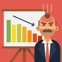 illustrazione vettoriale di capo arrabbiato