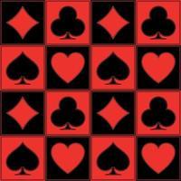 poker pattern disegno vettoriale
