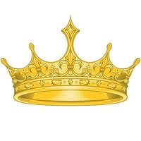 disegno vettoriale corona d'oro, con fiore liz reale