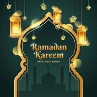 bellissimo sfondo di ramadan kareem vettore