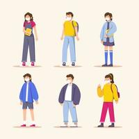 design del personaggio degli studenti vettore
