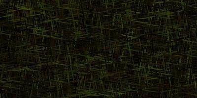 layout vettoriale verde scuro, giallo con linee piatte.