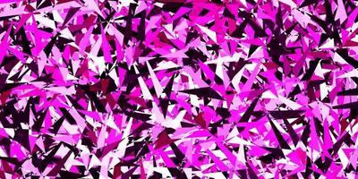 layout vettoriale rosa scuro con linee, triangoli.