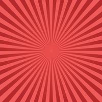 sfondo rosso raggera vettore