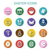 icone di lunga ombra di Pasqua vettore