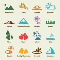 elementi vettoriali di paesaggio