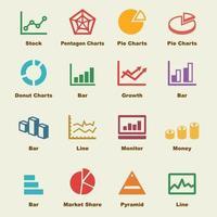 elementi vettoriali di statistiche