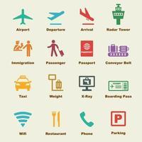 elementi vettoriali aeroporto