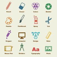 elementi di design grafico vettore