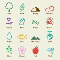 elementi vettoriali naturali