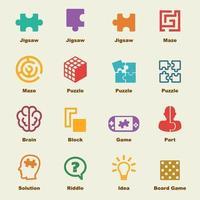 puzzle elementi vettoriali