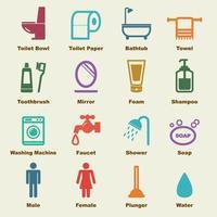 elementi di vettore del bagno