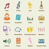 elementi vettoriali di musica