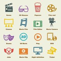 elementi vettoriali di film