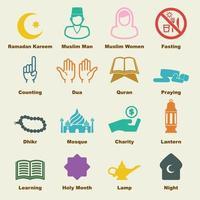 elementi vettoriali di ramadan