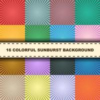 vettore colorato sunburst