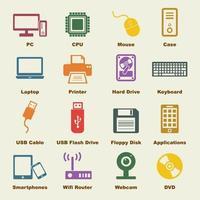 elementi del computer e del dispositivo vettore
